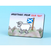 6133 Fridge Magnet-GREETINGS FROM YOUR TOWN-SCOTTISH FLAG